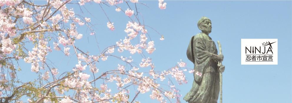 主要的视觉的图片(芭蕉像和樱花)